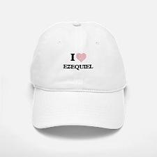 I Love Ezequiel (Heart Made from Love words) Baseball Baseball Cap
