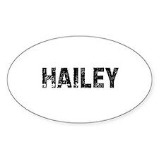 Hailey Oval Decal