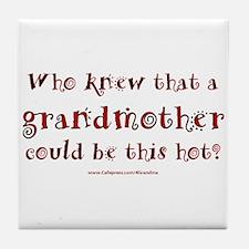 Hot Grandmother Tile Coaster
