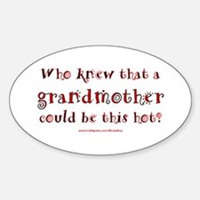 Hot Grandmother Oval Decal