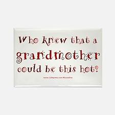 Hot Grandmother Rectangle Magnet