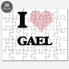 I Love Gael (Heart Made from Love words) Puzzle