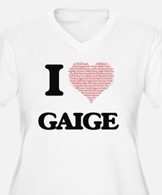 I Love Gaige (Heart Made from Lo Plus Size T-Shirt
