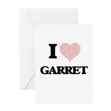 I Love Garret (Heart Made from Love Greeting Cards