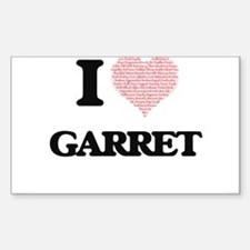 I Love Garret (Heart Made from Love words) Decal