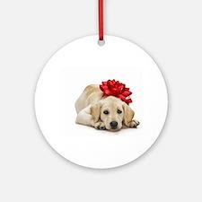 Yellow Lab Puppy Round Ornament