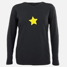 Yellow Star Plus Size Long Sleeve Tee