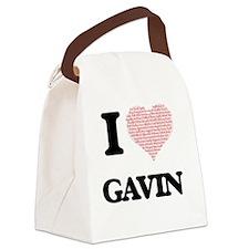 I Love Gavin (Heart Made from Lov Canvas Lunch Bag