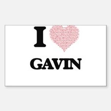 I Love Gavin (Heart Made from Love words) Decal