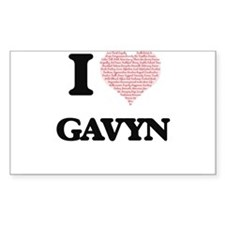 I Love Gavyn (Heart Made from Love words) Decal