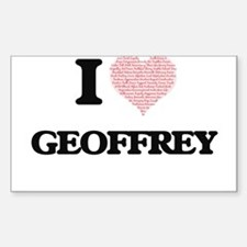 I Love Geoffrey (Heart Made from Love word Decal