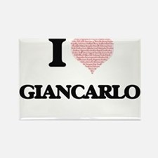 I Love Giancarlo (Heart Made from Love wor Magnets