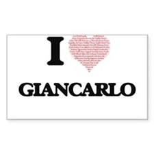 I Love Giancarlo (Heart Made from Love wor Decal