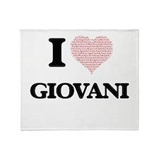 I Love Giovani (Heart Made from Love Throw Blanket