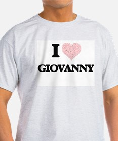 I Love Giovanny (Heart Made from Love word T-Shirt