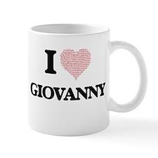 I Love Giovanny (Heart Made from Love words) Mugs