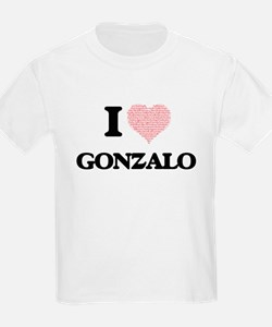 I Love Gonzalo (Heart Made from Love words T-Shirt