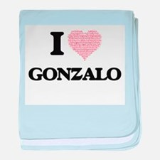 I Love Gonzalo (Heart Made from Love baby blanket