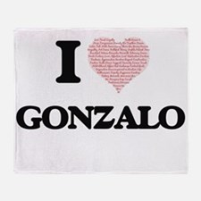 I Love Gonzalo (Heart Made from Love Throw Blanket