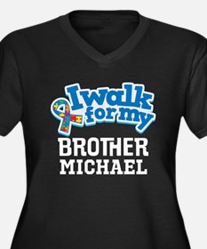 Autism Walk For Brother Personalized Plus Size T-S