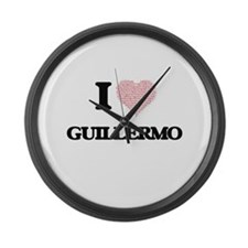 I Love Guillermo (Heart Made from Large Wall Clock