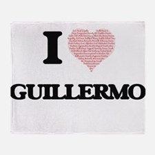 I Love Guillermo (Heart Made from Lo Throw Blanket