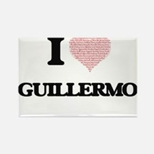 I Love Guillermo (Heart Made from Love wor Magnets