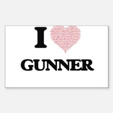 I Love Gunner (Heart Made from Love words) Decal