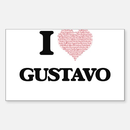 I Love Gustavo (Heart Made from Love words Decal