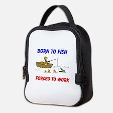 BORN TO FISH Neoprene Lunch Bag