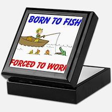 BORN TO FISH Keepsake Box