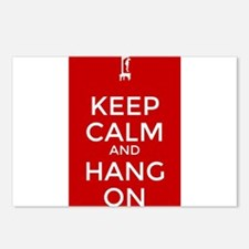 Keep Calm and Hang On Postcards (Package of 8)