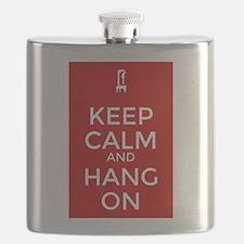 Keep Calm and Hang On Flask