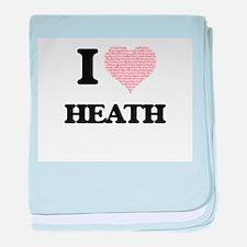 I Love Heath (Heart Made from Love wo baby blanket