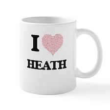 I Love Heath (Heart Made from Love words) Mugs