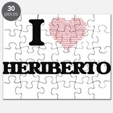 I Love Heriberto (Heart Made from Love word Puzzle