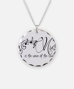 Music is the voice of the so Necklace