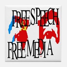 RUSSIA FREE SPEECH FREE MEDIA Tile Coaster