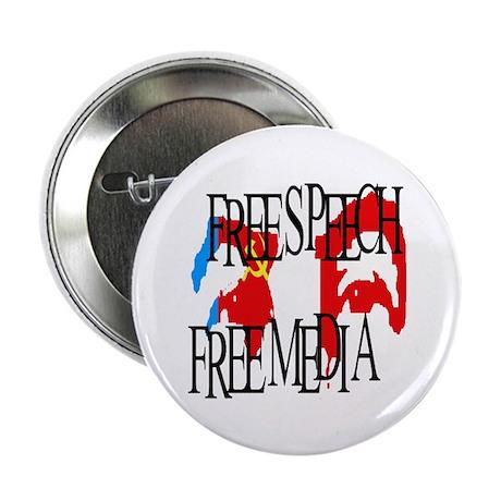 "RUSSIA FREE SPEECH FREE MEDIA 2.25"" Button (100 pa"