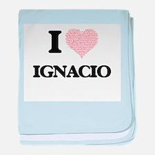 I Love Ignacio (Heart Made from Love baby blanket