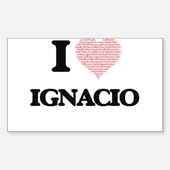 I Love Ignacio (Heart Made from Love words Decal