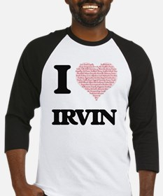 I Love Irvin (Heart Made from Love Baseball Jersey