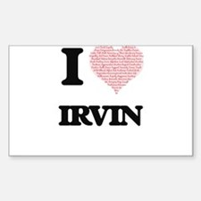 I Love Irvin (Heart Made from Love words) Decal