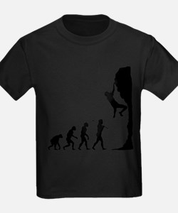 Cute Evolution of rock climbing T