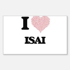 I Love Isai (Heart Made from Love words) Decal