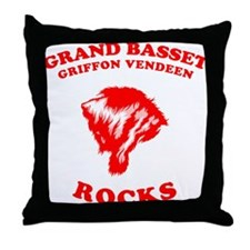 Grand Basset Griffon Vendeen Throw Pillow
