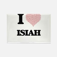 I Love Isiah (Heart Made from Love words) Magnets