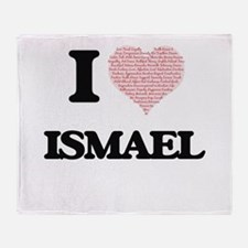 I Love Ismael (Heart Made from Love Throw Blanket