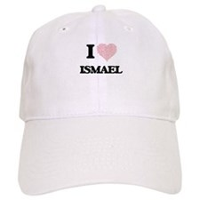 I Love Ismael (Heart Made from Love words) Baseball Cap