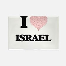 I Love Israel (Heart Made from Love words) Magnets